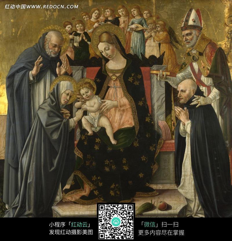 基督耶稣的诞生油画图片