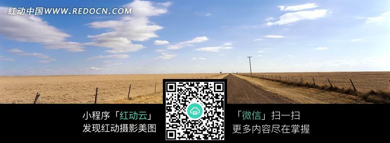 秋天田野中的一条路图片 风景图片 1353435