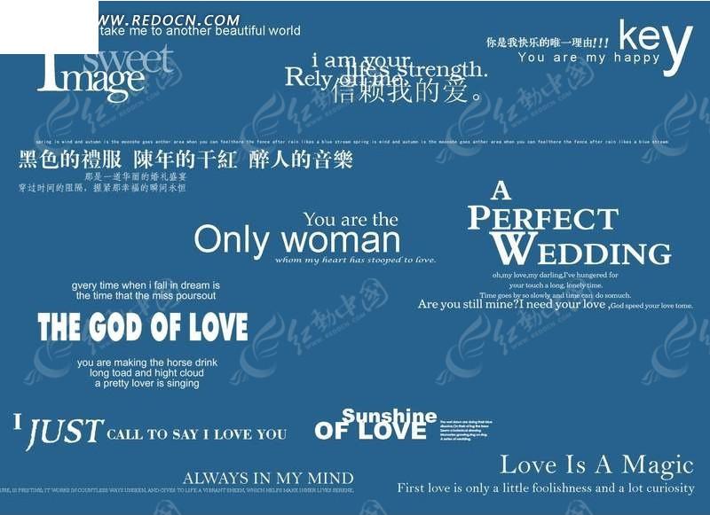 英文标题字体排版设计psd分层文件图片