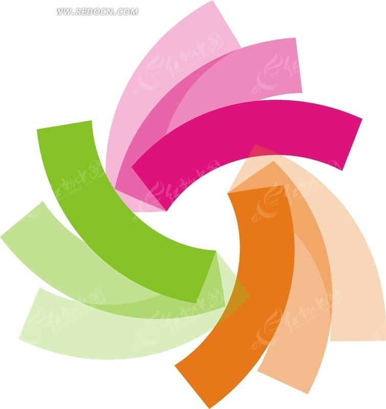 色站到_创意彩色旋转色条矢量素材