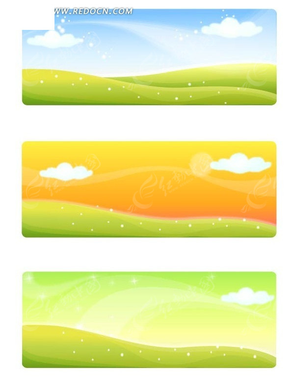 不同颜色的天空和变换的云彩图片