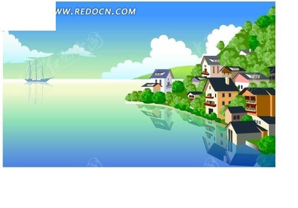 海边的别墅卡通画