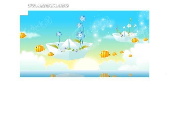 手绘卡通梦幻海洋