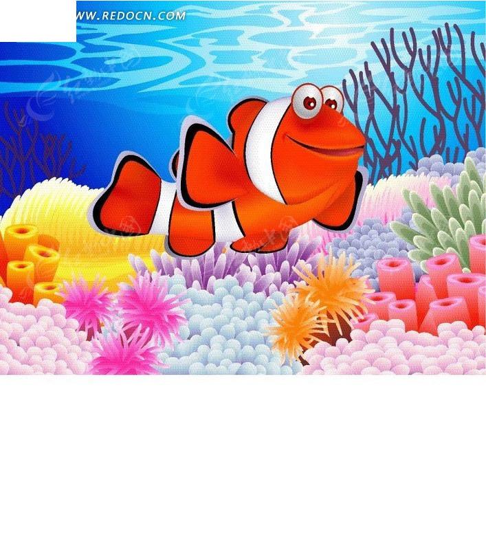 海底可爱的小丑鱼