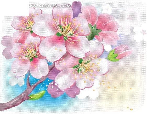 美丽 花朵 粉色花朵 手绘 绘画 卡通花朵 卡通人物 卡通人物图片 漫画