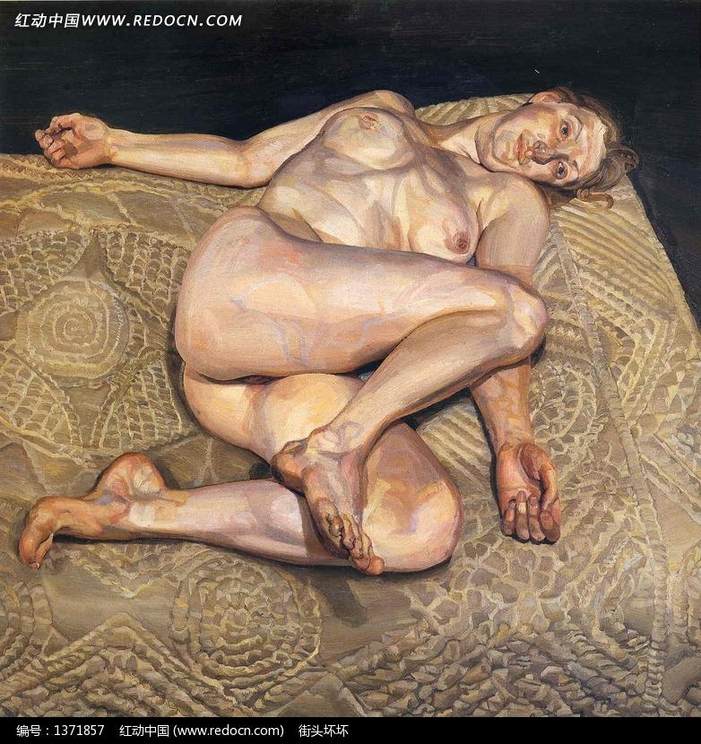 体女人油画图片
