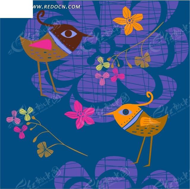 位置:卡通画在窗户的小鸟 - 卡通画在窗户的小鸟