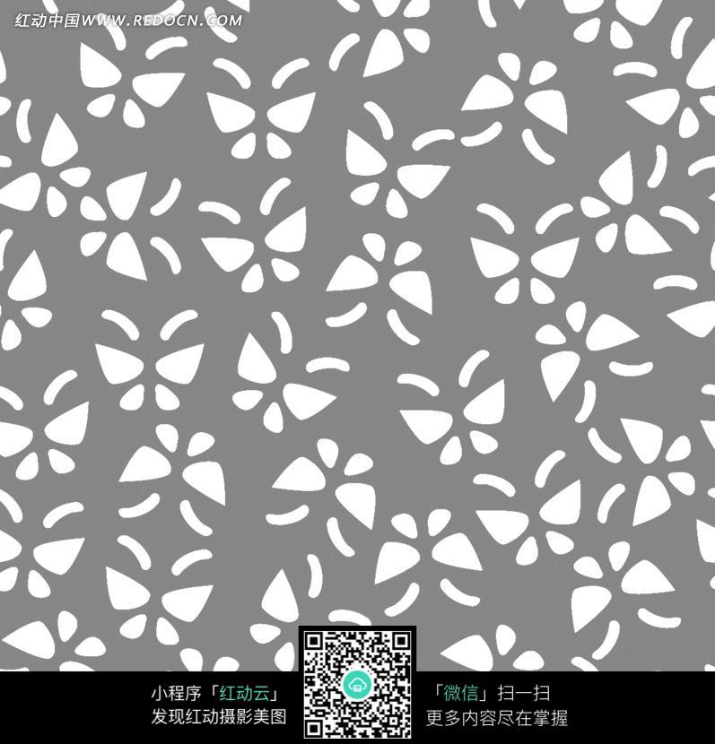 灰色底白色蝴蝶四方连续图案图片