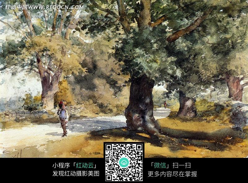 保护环境手抄报树怎么画 风景油画画树技法高清图片