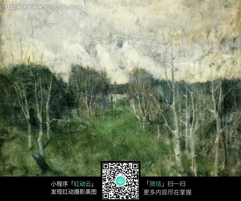 树丛手绘效果图