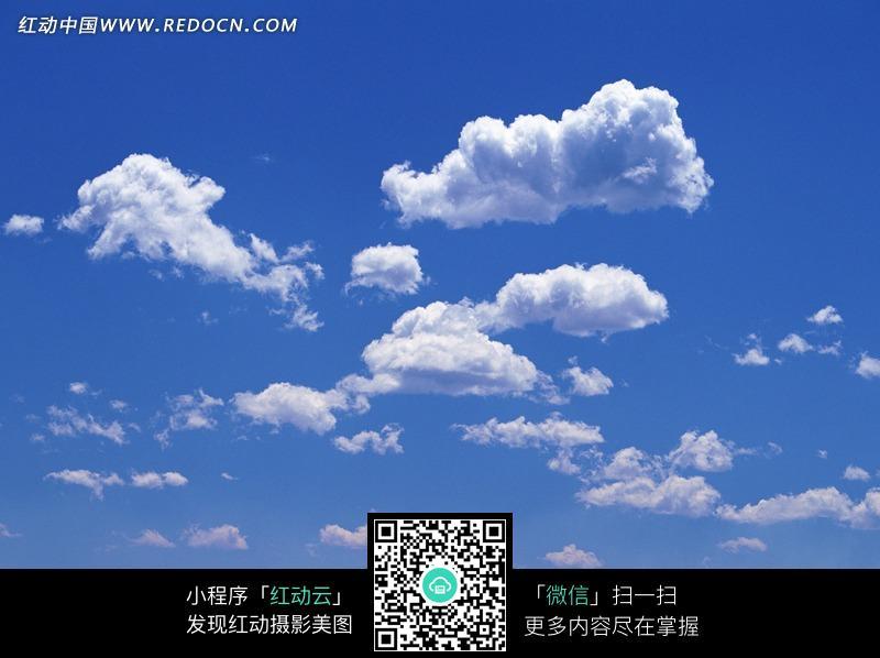 晴朗 天空 美丽云朵 白云 云 蓝天 自然美景  风景图片 摄影图片