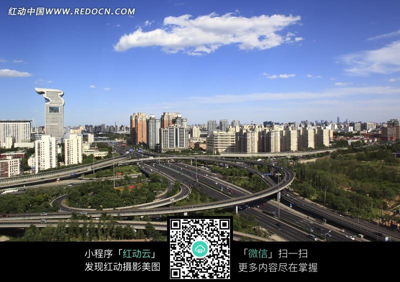 四通八达的北京立交桥图片 环境图片 1387659