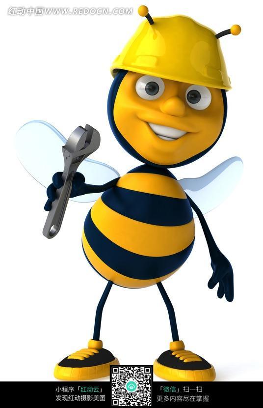 卡通蜜蜂修理工图片_动物图片