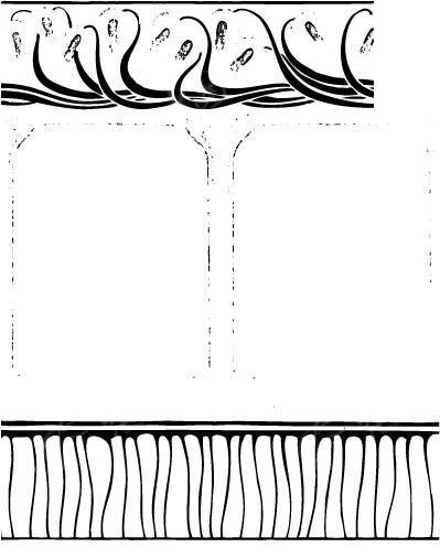 中国古典图案-曲线和直线构成的图案