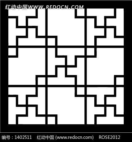 中国古典图案-直线构成的格子图案图片