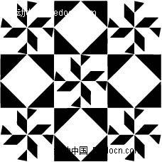 菱形三角形构成的图案图片