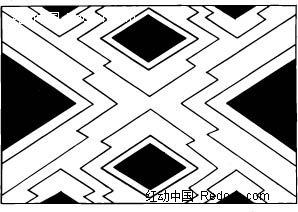 菱形和线条构成的图案图片