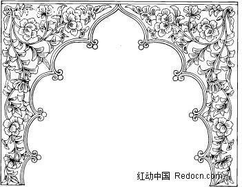 ppt 背景 背景图片 边框 简笔画 模板 设计 手绘 线稿 相框 351_272