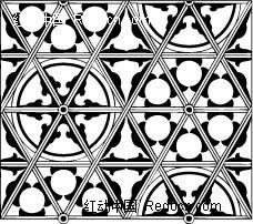 雪花形和三角形构成的图案图片