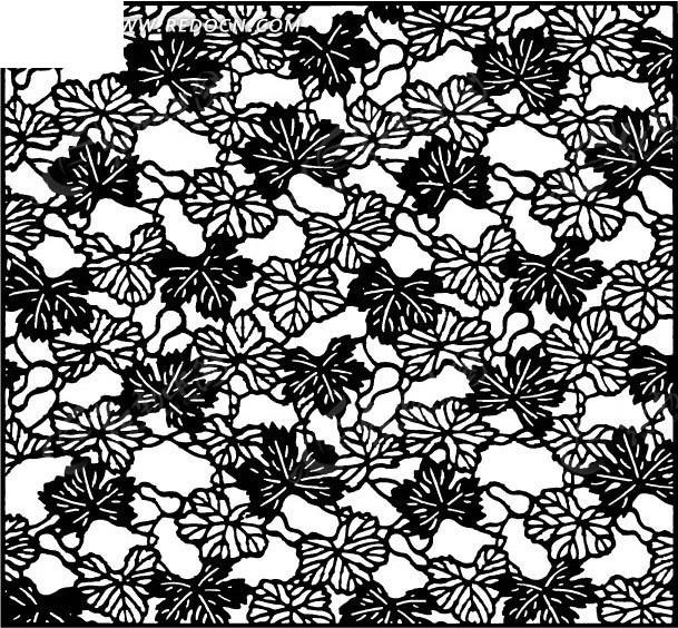 黑白手绘肌理构成