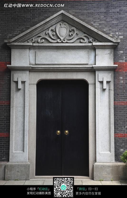 欧式灰色大理石门楼