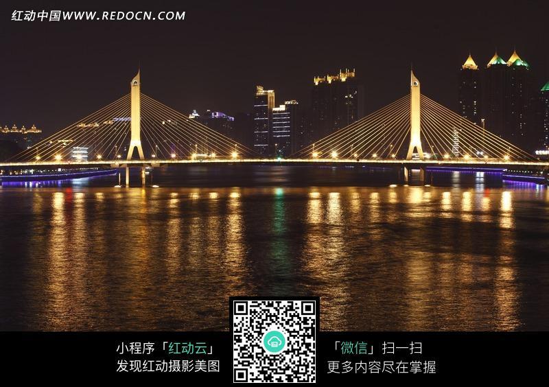 广州双子塔夜景_城市风光图片_红动手机版