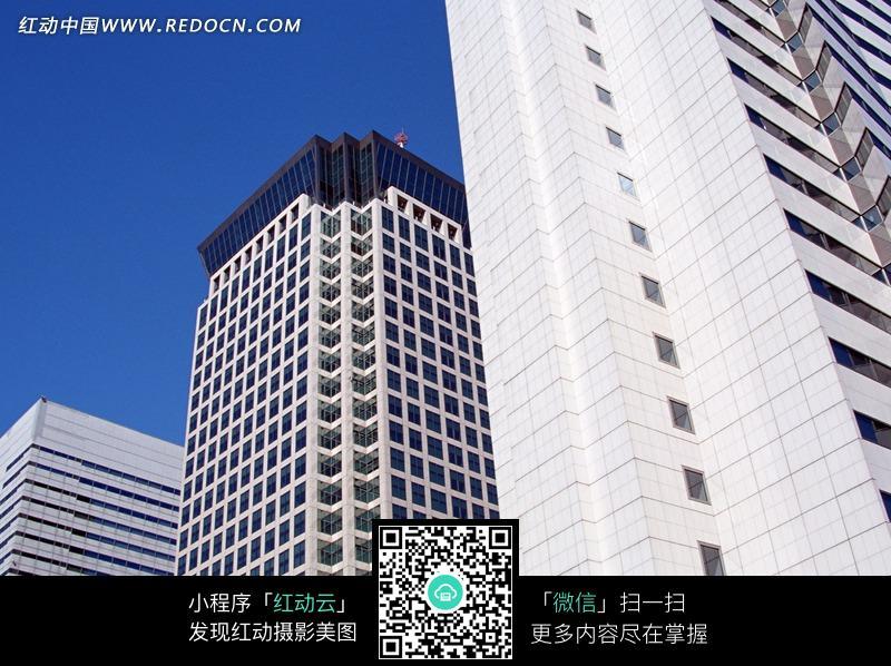 高楼大厦局部特写图图片