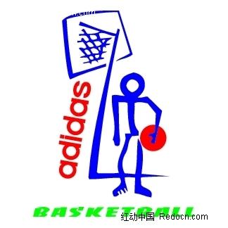 Adidas Basketball 52998英文logo设计