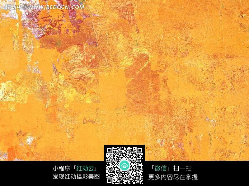 黄色色中色_褐色黄色擦痕画涂背景; 油画布涂刷的橙黄色底图片_底纹背景图片