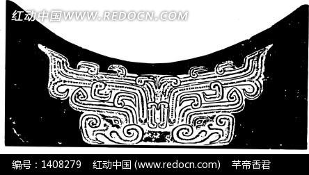 中国古典图案-卷曲纹和线条构成的图案