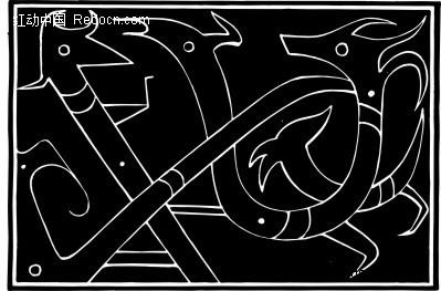 中国古典图案-动物构成的图案