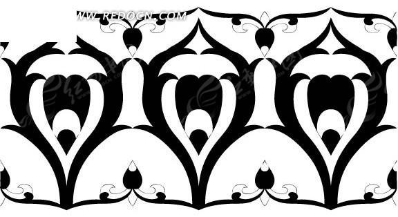 中国古典图案-几何形构成的黑白图案