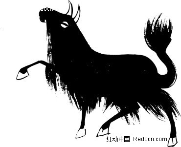 牦牛 牛 简笔画 装饰纹 动物纹 ai矢量文件 花纹 花纹素材 花边 花边