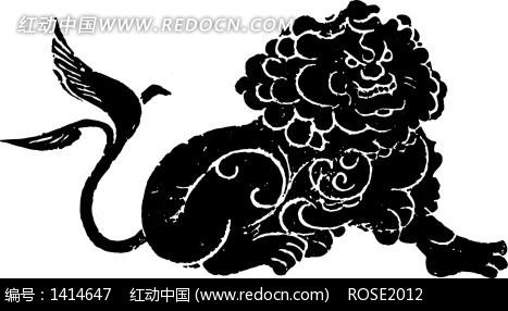 中国传统狮子图图片