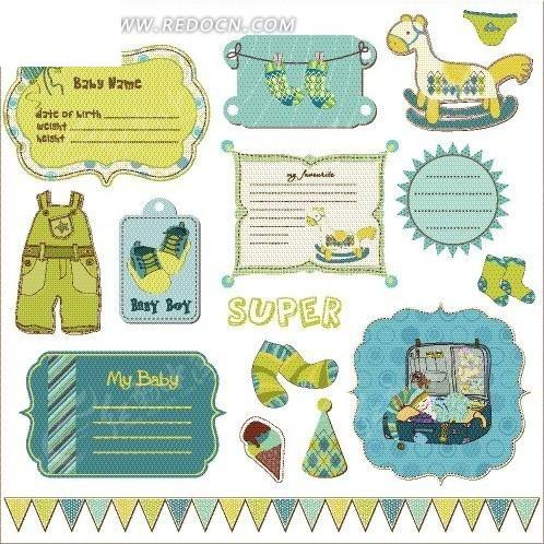 手绘儿童玩具衣服和促销展牌
