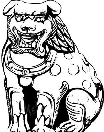 中国狮子简笔画步骤