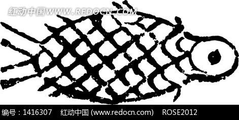 手绘鱼形图案图片