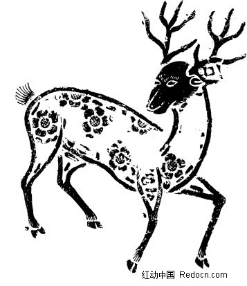 梅花鹿矢量图