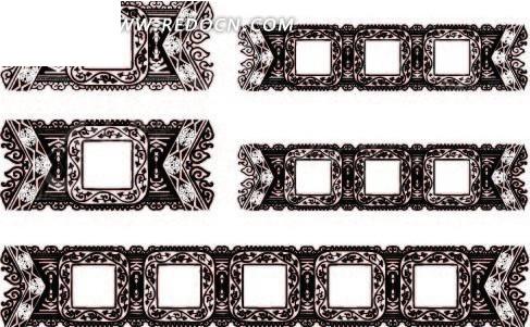 桌旗复古花纹方框ai矢量文件免费下载_花纹花边素材图片
