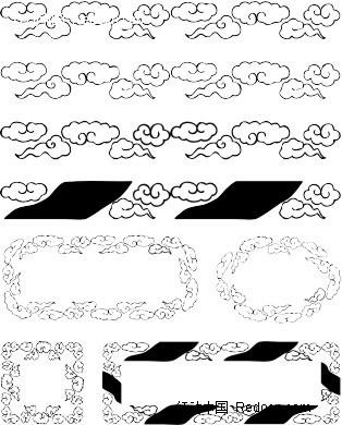 中国 传统 云纹 云朵 花边 边框  花纹 花纹素材 花边素材 矢量素材
