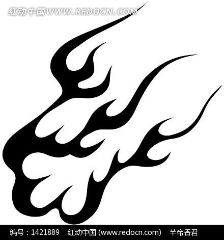 手绘燃烧的火焰