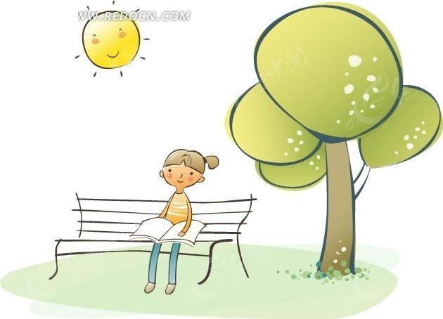 女孩 插画设计 矢量素材 卡通人物 手绘人物 手绘 创意插画设计 漫画