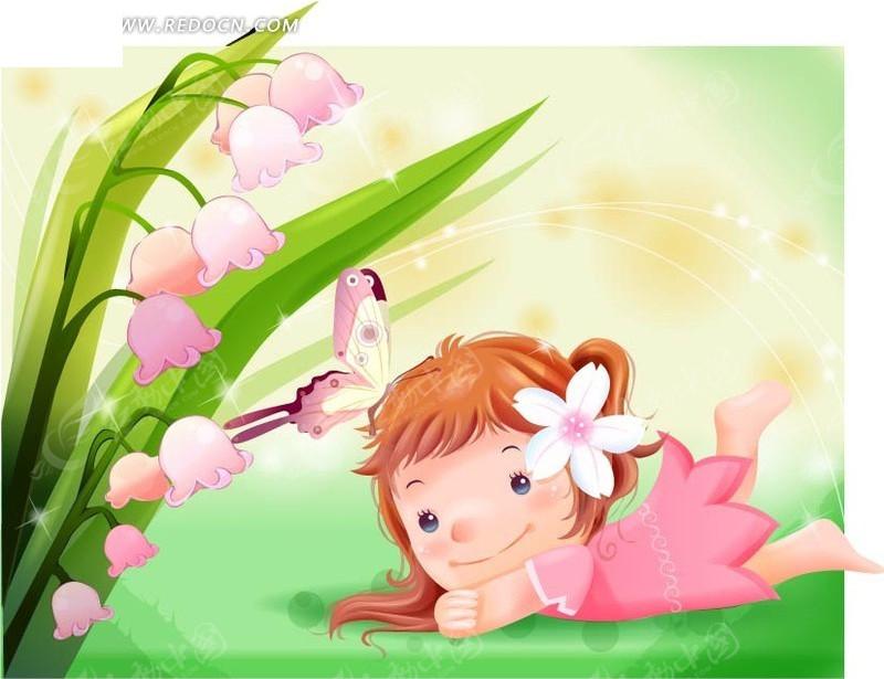 可爱姑娘手绘图片
