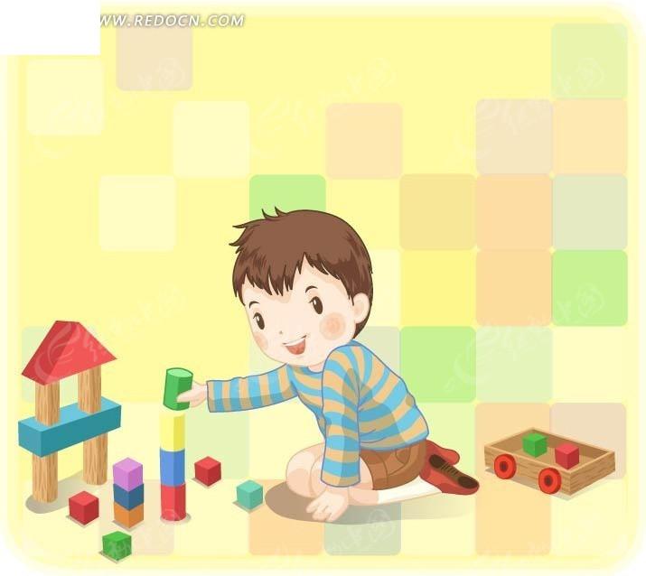 积木 玩具 开心的