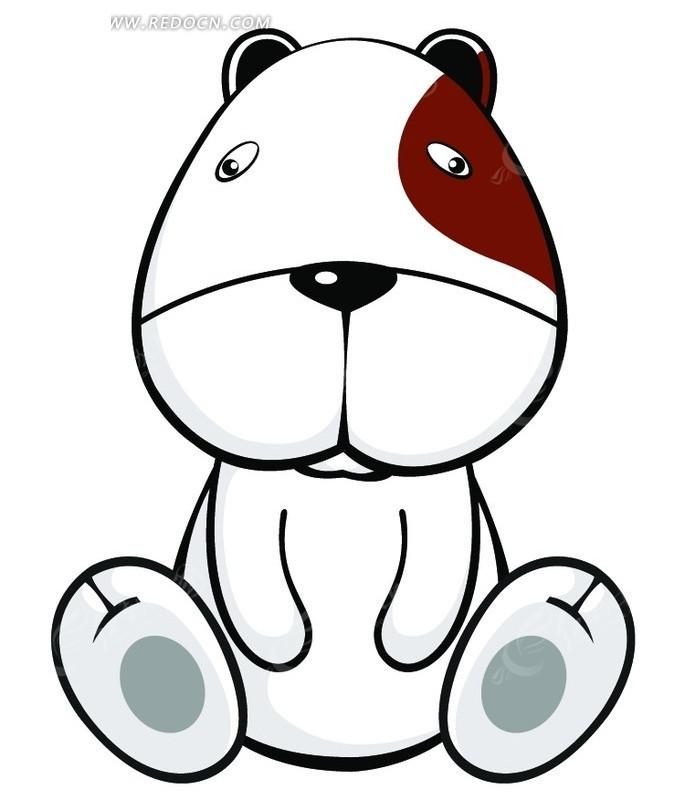 坐着的卡通小狗psd素材