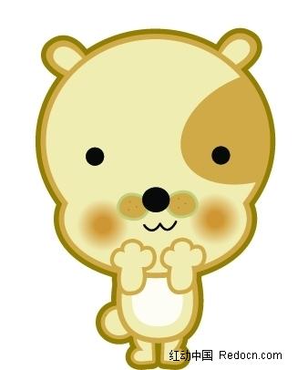 可爱的卡通小熊psd素材