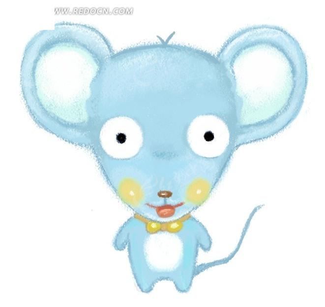 瞪大眼睛的小老鼠psd素材_卡通人物