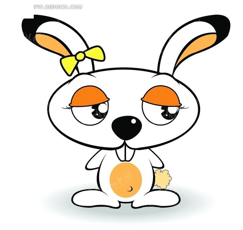 可爱 小白兔 卡通