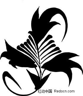 免费素材 矢量素材 艺术文化 传统工艺品 中国古典图案-叶子图形