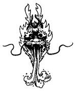 中国古典图案-喷水的龙头图片